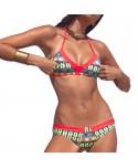 Multicolor Geometric Bikini Set
