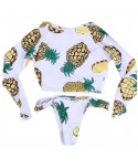 Pineapple Padded Crop Top Bikini Set