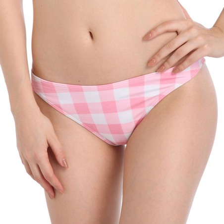 Plus Size Plaid Swim Briefs Bikini Bottoms