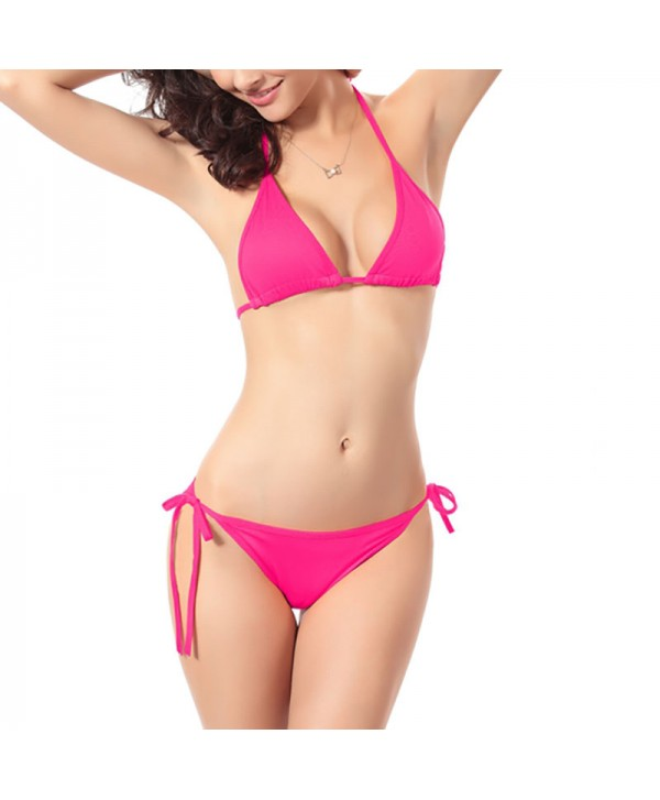 Solid Tie Side Bikini Set