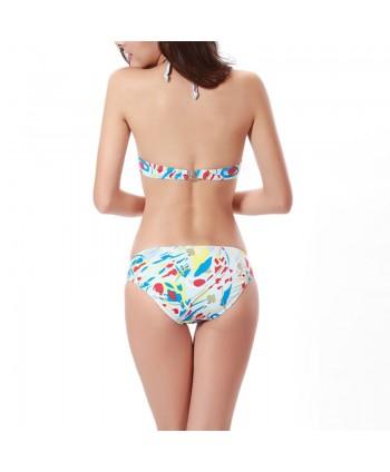 Print Push Up Bikini Set