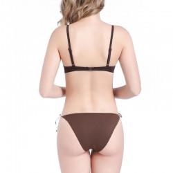 solid push up bikini set