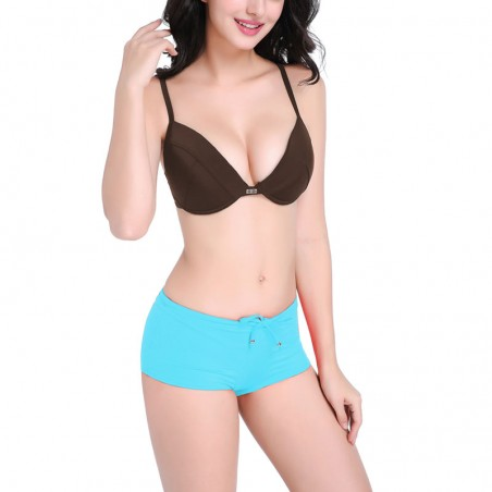 Push Up Bikini Top and Boxer Briefs Set