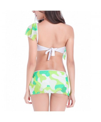 Print One Shoulder Bikini Set