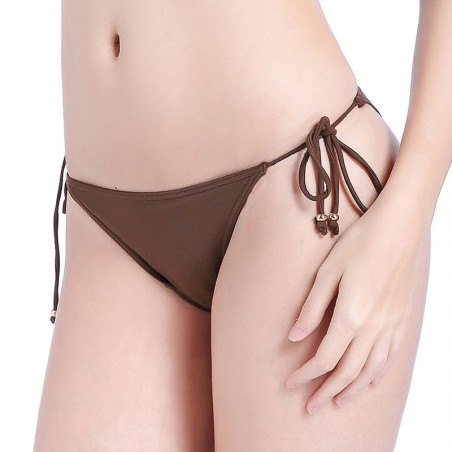 Soild Tie Side Triangle Bikini Bottoms